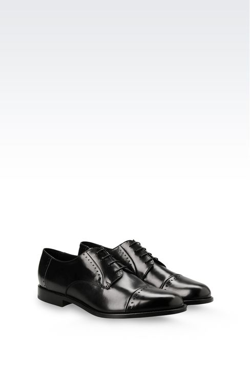 DERBY SHOE IN PARMA CALFSKIN WITH DETAIL WORK: Lace-up shoes Men by Armani - 2