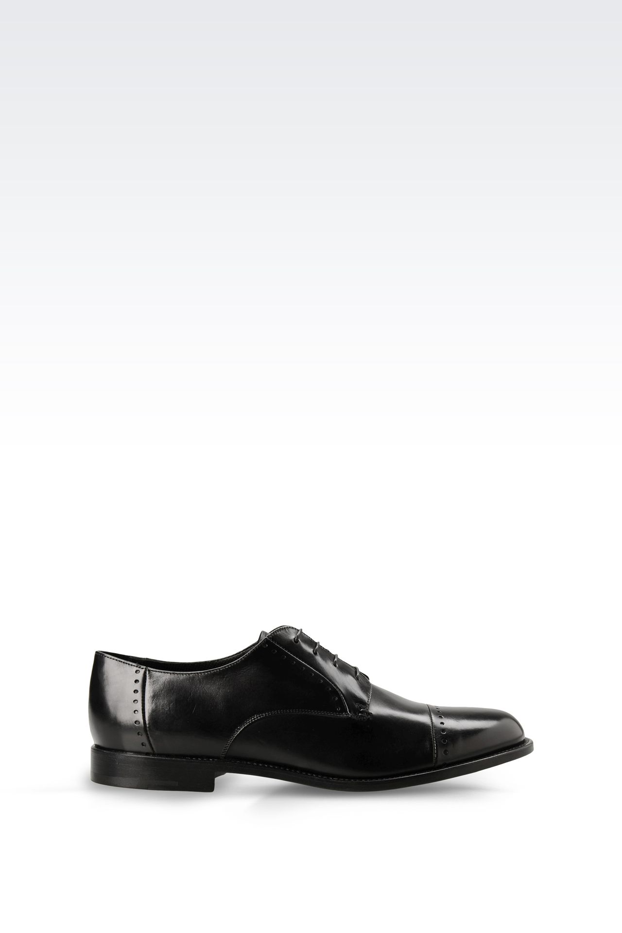 DERBY SHOE IN PARMA CALFSKIN WITH DETAIL WORK: Lace-up shoes Men by Armani - 0