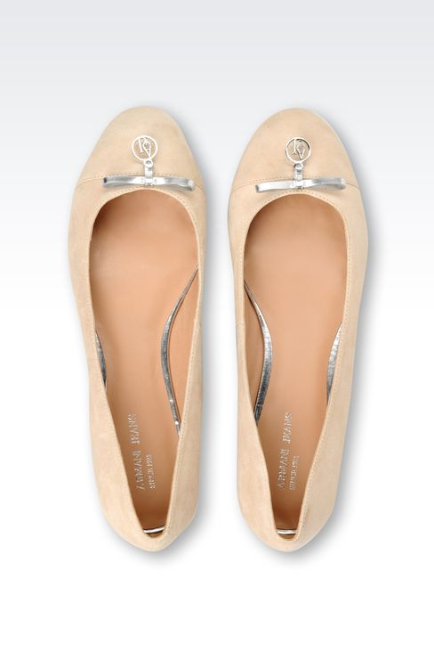 SUEDE BALLET FLAT WITH CHARM: Ballet flats Women by Armani - 3