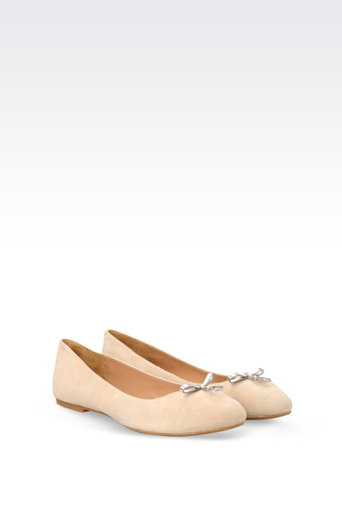 SUEDE BALLET FLAT WITH CHARM: Ballet flats Women by Armani - 2