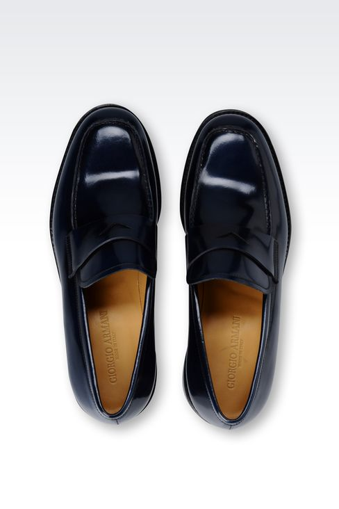 LOAFER IN ENGLAND CALFSKIN: Moccasins Men by Armani - 3