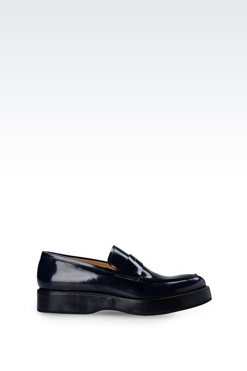 LOAFER IN ENGLAND CALFSKIN: Moccasins Men by Armani - 1