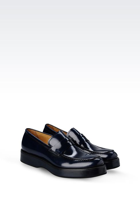 LOAFER IN ENGLAND CALFSKIN: Moccasins Men by Armani - 2