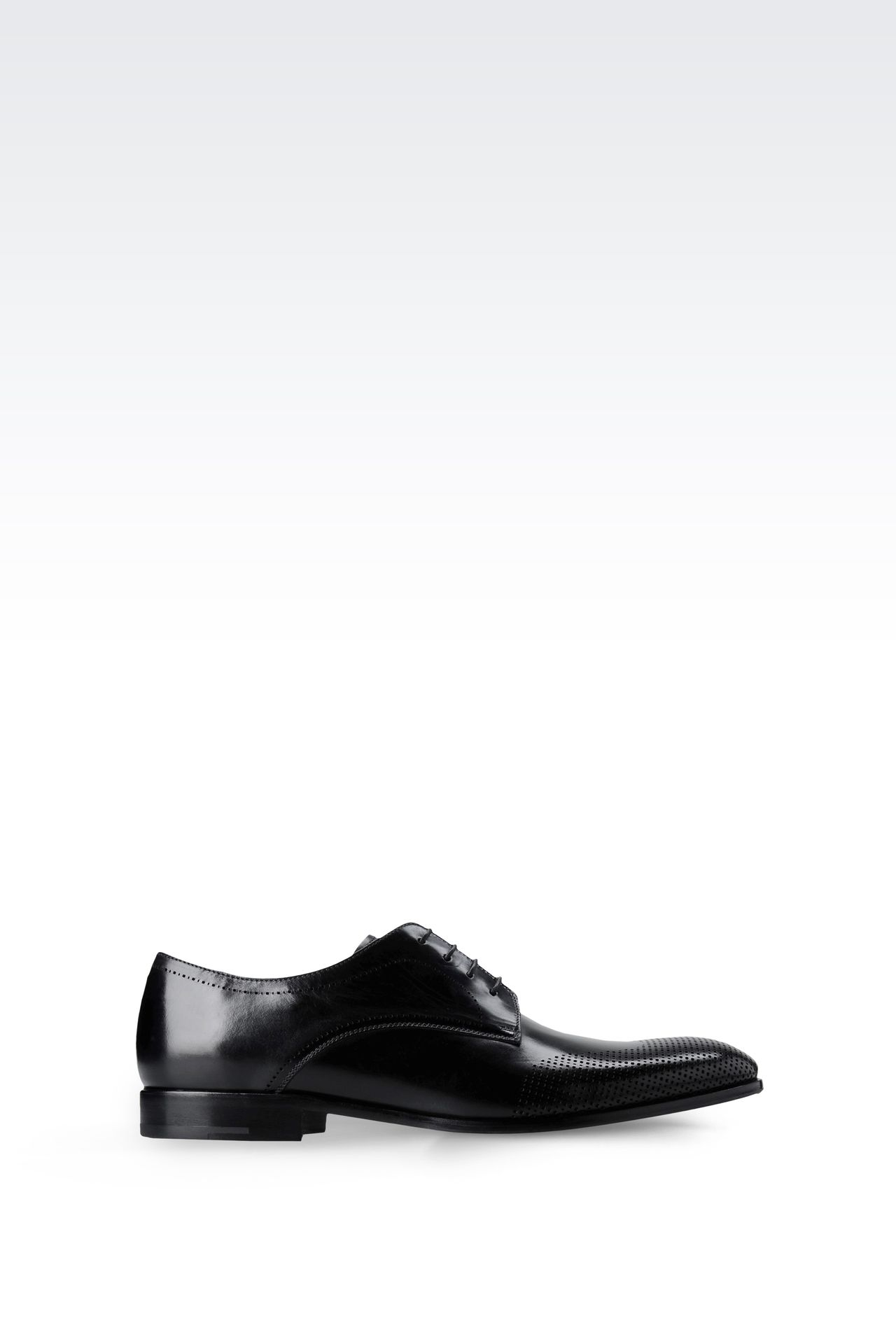 DERBY IN LASER-PERFORATED LEATHER: Lace-up shoes Men by Armani - 0