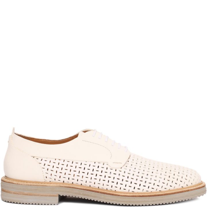 Alexander McQueen, Perforated Leather Lace-Up Shoe