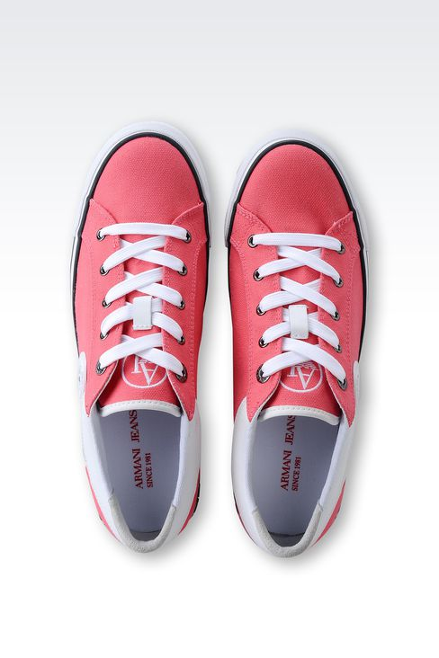 CANVAS SNEAKER WITH LOGO: Sneakers Women by Armani - 3