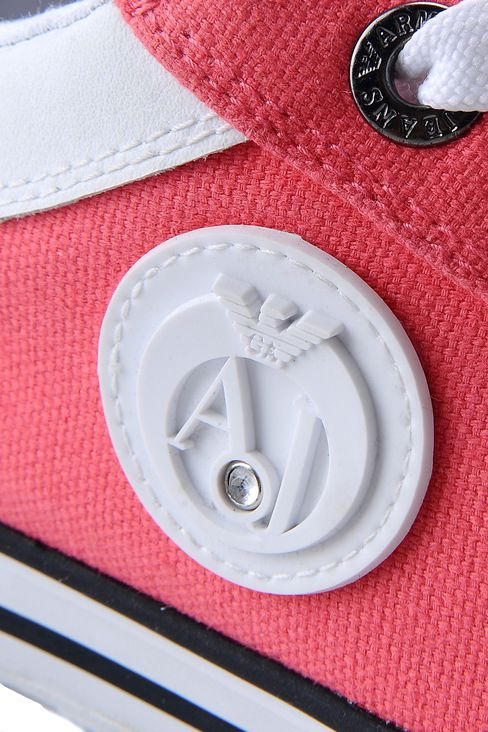 CANVAS SNEAKER WITH LOGO: Sneakers Women by Armani - 4