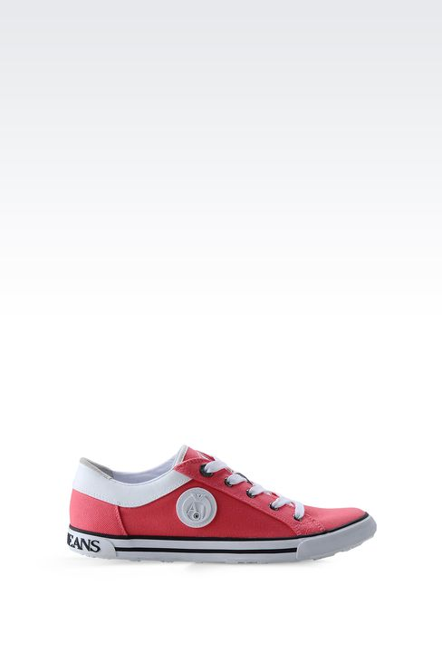 CANVAS SNEAKER WITH LOGO: Sneakers Women by Armani - 1