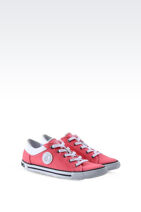 CANVAS SNEAKER WITH LOGO: Sneakers Women by Armani - 2