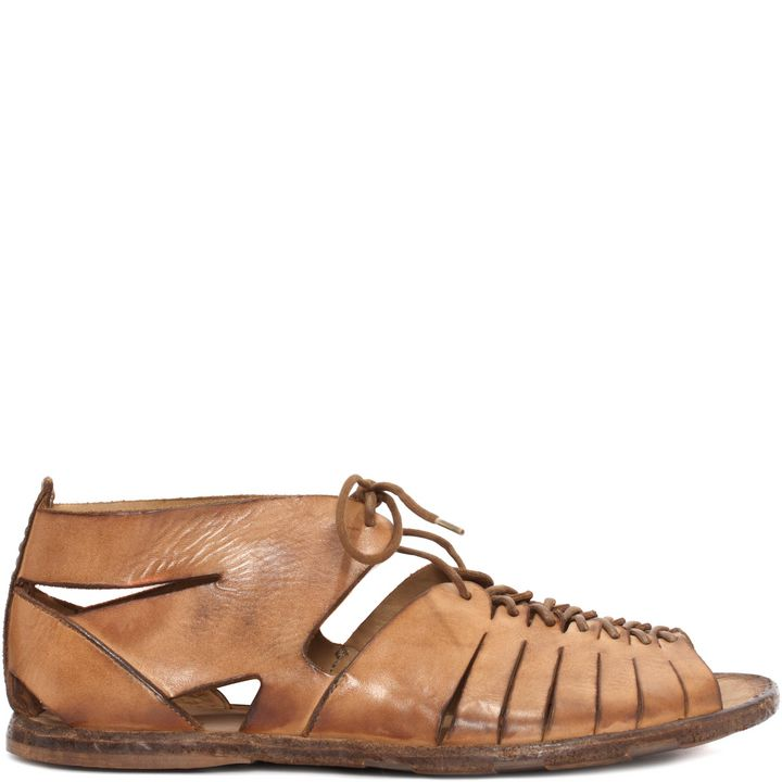 Alexander McQueen, Leather Lace-Up Sandal