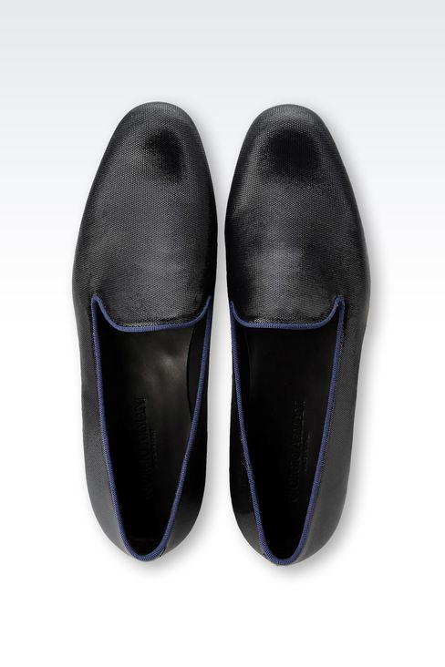 SLIP-ON IN PATENT AND GROSGRAIN: Moccasins Men by Armani - 3