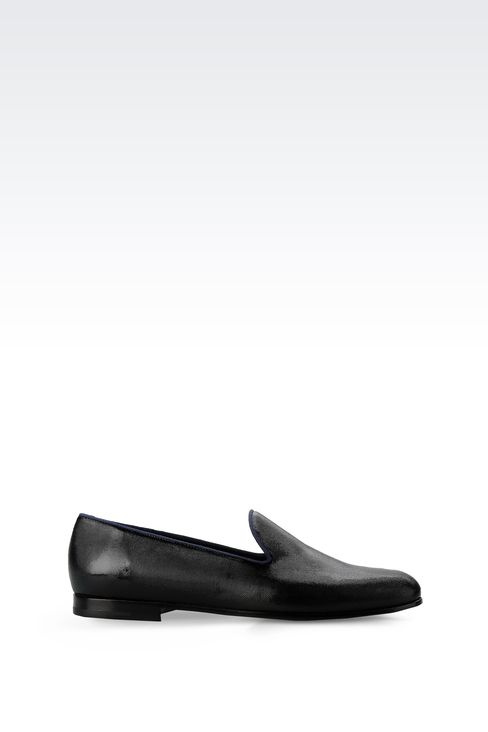 SLIP-ON IN PATENT AND GROSGRAIN: Moccasins Men by Armani - 1