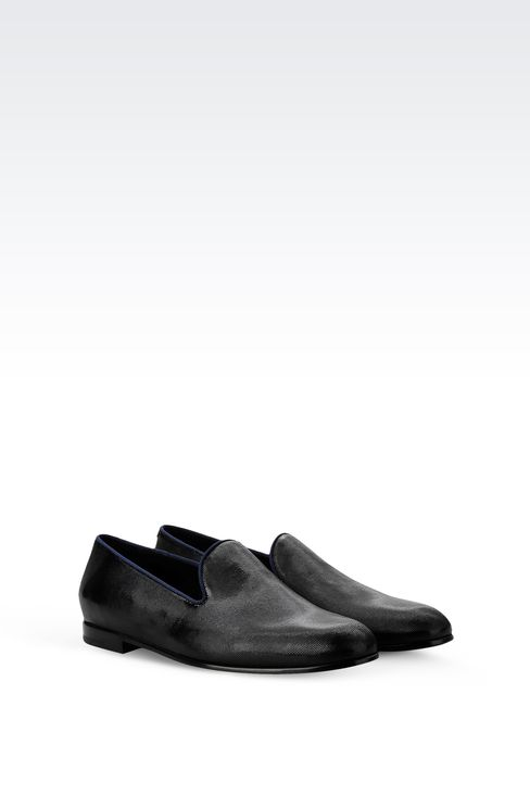 SLIP-ON IN PATENT AND GROSGRAIN: Moccasins Men by Armani - 2