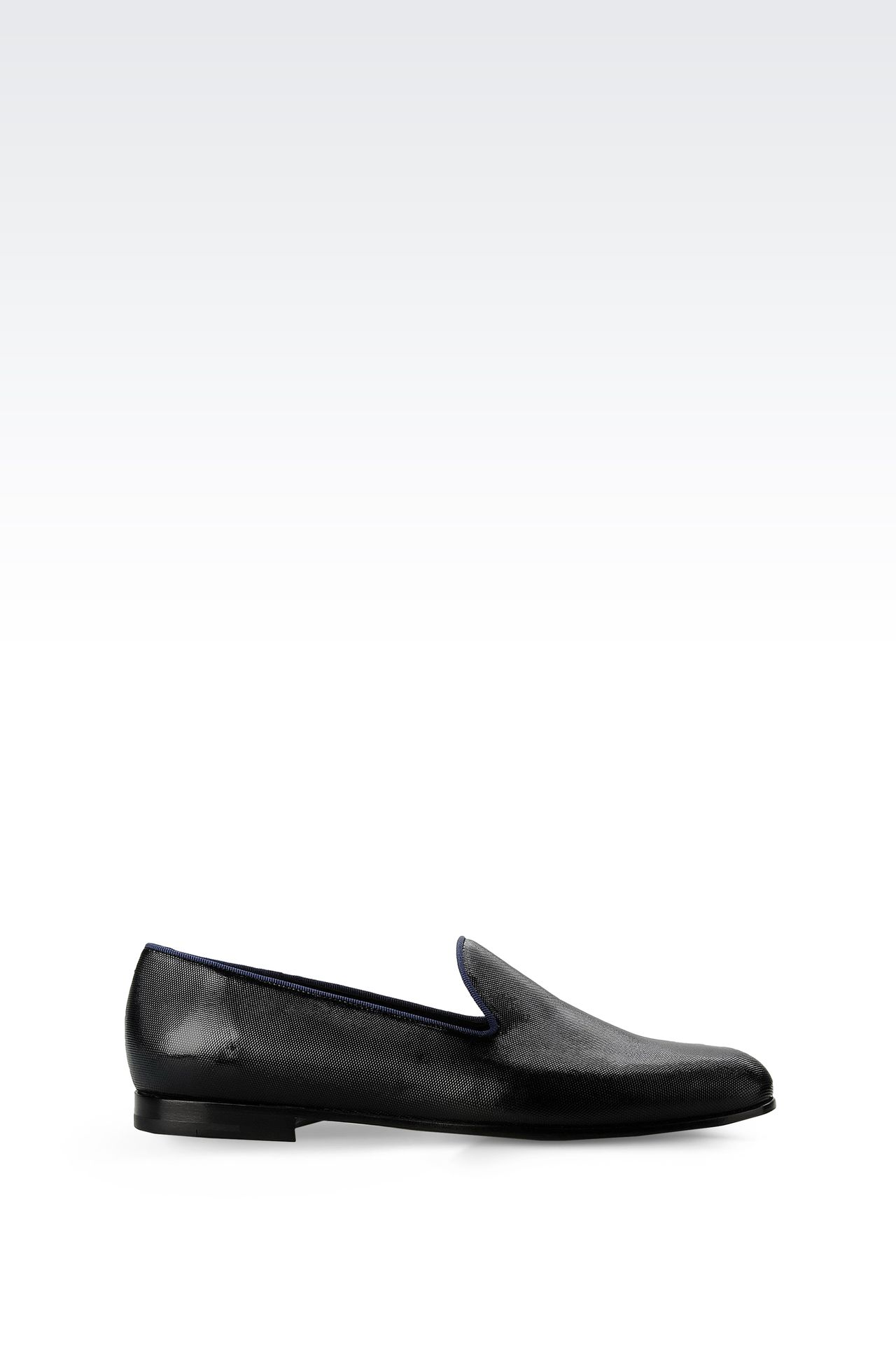 SLIP-ON IN PATENT AND GROSGRAIN: Moccasins Men by Armani - 0