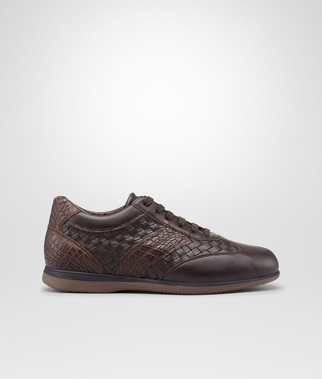 BOTTEGA VENETA Espresso Intrecciato Calf Soft Caiman Sneaker Sneakers U fp