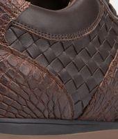 Espresso Intrecciato Calf Soft Caiman Sneaker