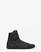Sneakers Signature Court Classic SL/01H High Top nere in pelle