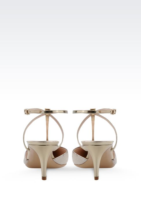 SLING BACK IN KARUNG AND MIRROR CALFSKIN: Slingbacks Women by Armani - 3