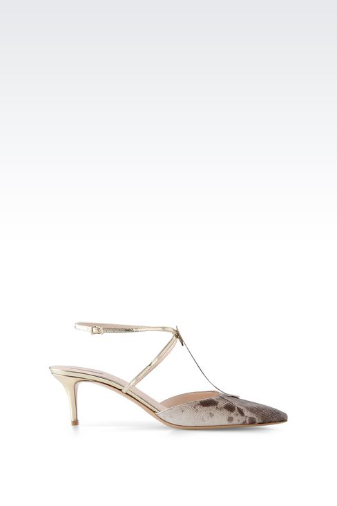 SLING BACK IN KARUNG AND MIRROR CALFSKIN: Slingbacks Women by Armani - 1