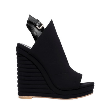 Balenciaga Glove Neoprene Wedge Sandals