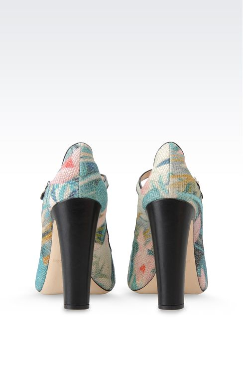 OPEN TOE SANDAL IN WATER LILY PRINT JUTE: Closed-toe slip-ons  Women by Armani - 3