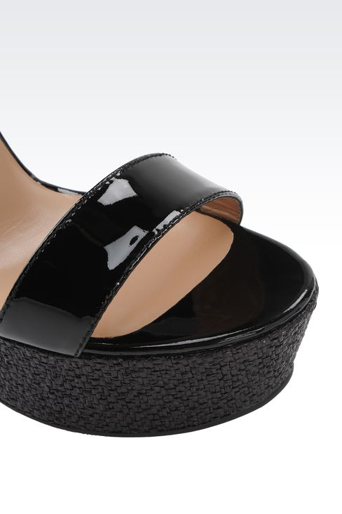 WEDGES IN PATENT EFFECT LEATHER: Wedges Women by Armani - 4