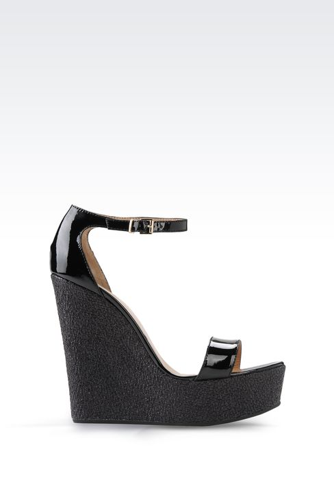 WEDGES IN PATENT EFFECT LEATHER: Wedges Women by Armani - 1