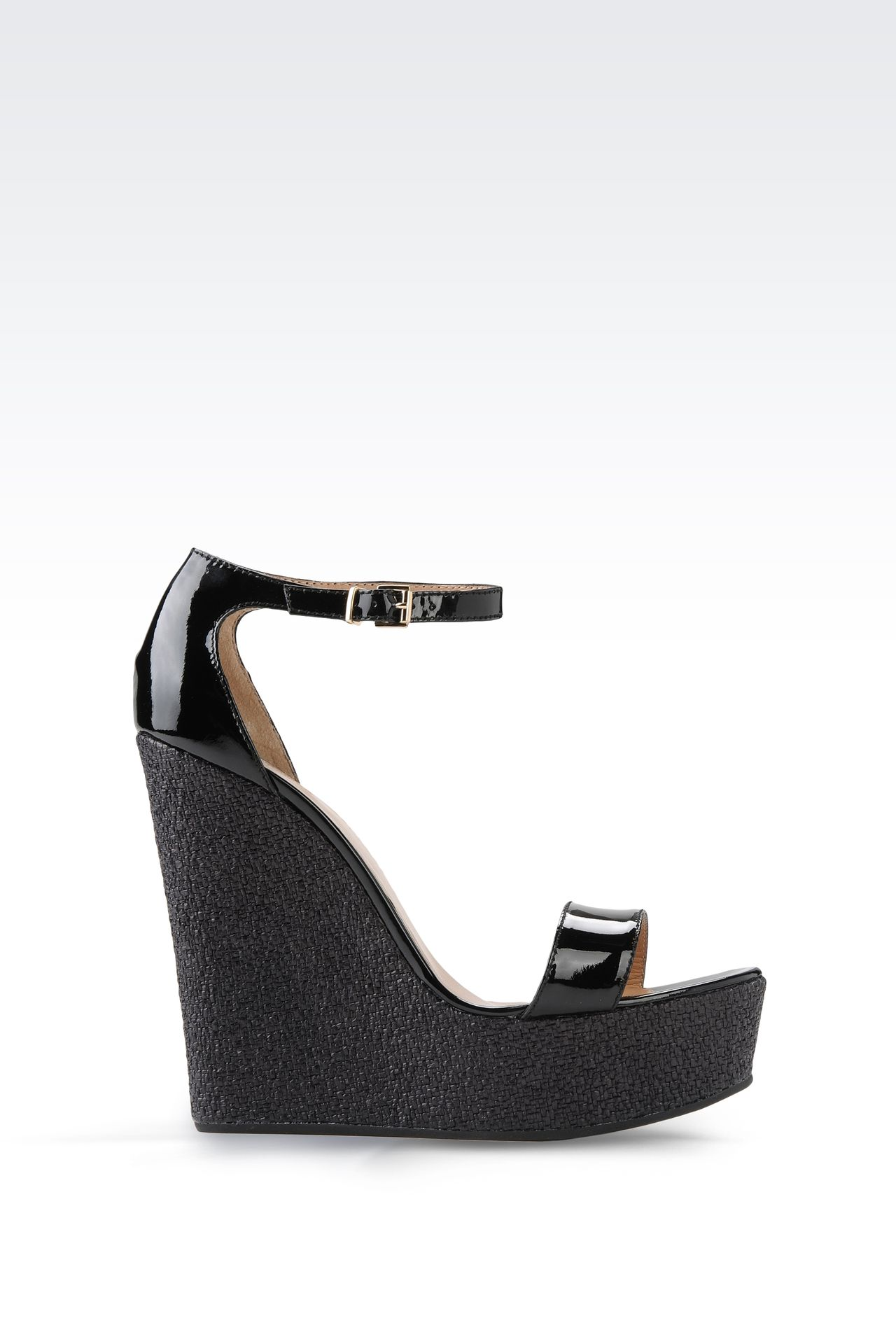WEDGES IN PATENT EFFECT LEATHER: Wedges Women by Armani - 0