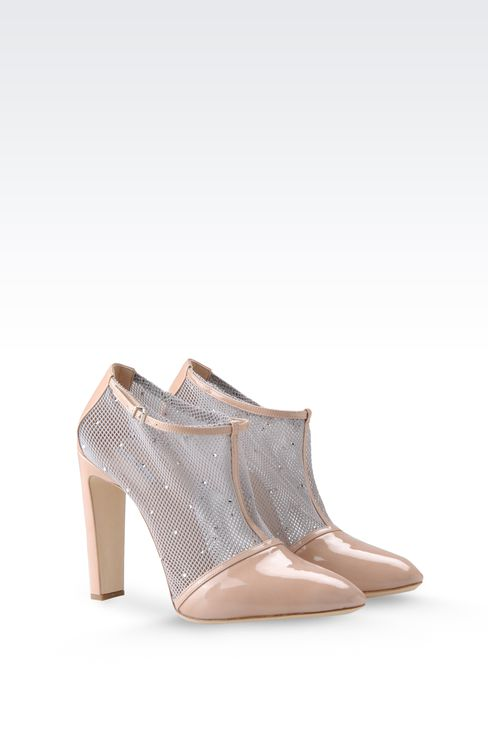 HALF BOOT IN PATENT LEATHER WITH RHINESTONES: Ankle boots Women by Armani - 2