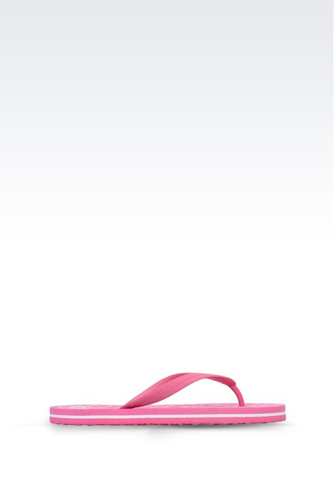 RUBBER FLIP-FLOP WITH LOGO: Flip flops Women by Armani - 1