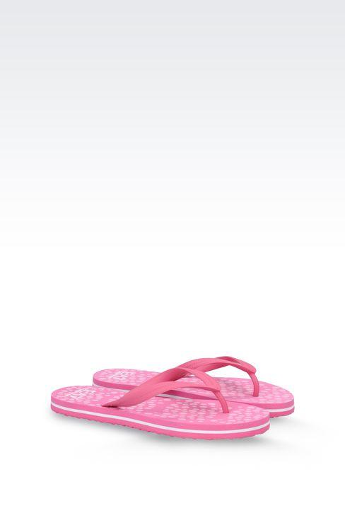 RUBBER FLIP-FLOP WITH LOGO: Flip flops Women by Armani - 2