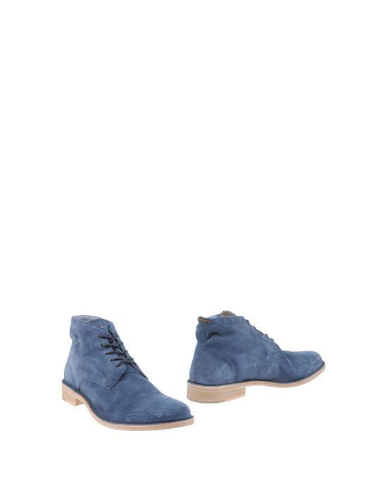 Полусапоги и высокие ботинки ESSEUTESSE. Цвет: грифельно-синий