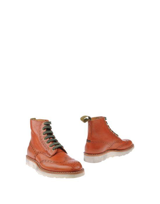Полусапоги и высокие ботинки ESSEUTESSE. Цвет: кирпично-красный