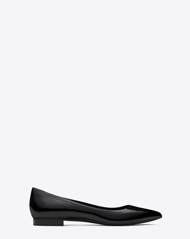 Saint Laurent Classic Paris 10 Ballerina Flat In Black Patent ...