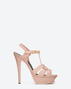 Sandali Tribute 105 classic color blush chiaro in pelle