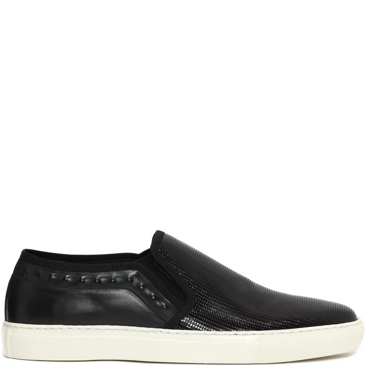Alexander McQueen, Stamped Patent Leather Slip On Sneaker