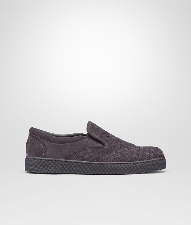 SNEAKER MEDIUM GREY IN INTRECCIATO SUEDE