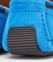 BOTTEGA VENETA Signal Blue Intrecciato Suede Moccasin Mocassin or Slipper U ap