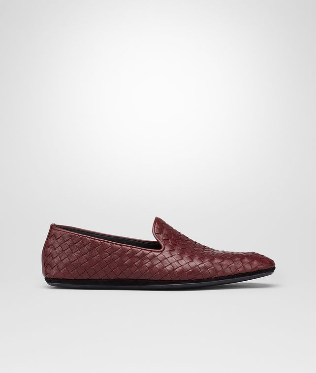 BOTTEGA VENETA Aubergine Intrecciato Foulard Calf Outdoor Slipper Mocassin or Slipper U fp