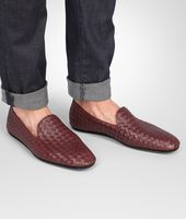 OUTDOOR SLIPPER AUBERGINE IN FOULARD CALF INTRECCIATO