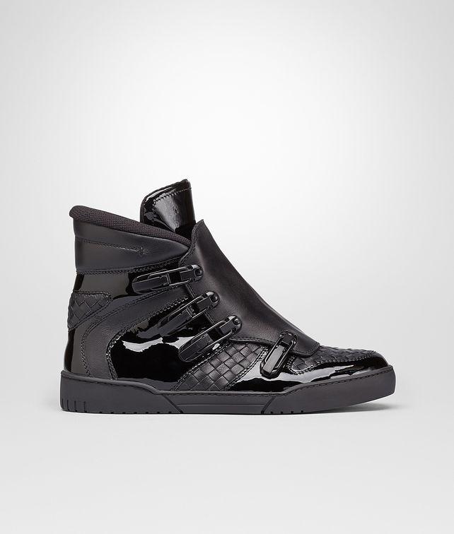 Nero Intrecciato Calf Vernis Sneaker