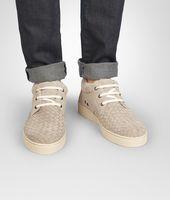 Sand Intrecciato Suede Sneaker