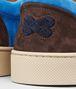 BOTTEGA VENETA Prusse Signal Blue Espresso Intrecciato Suede Sneaker Sneakers U ap