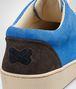 BOTTEGA VENETA Prusse Signal Blue Espresso Intrecciato Suede Sneaker Trainers U lp