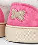 BOTTEGA VENETA Sand Mist Rosa Shock Intrecciato Suede Sneaker Trainers U ap