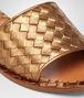 BOTTEGA VENETA NEW BRONZE INTRECCIATO CALF METAL SANDAL Pump or Sandal D ap