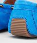 BOTTEGA VENETA MOCASSINI SIGNAL BLUE IN INTRECCIATO SUEDE Scarpa Bassa D ap