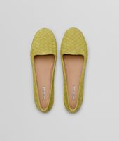 New Chartreuse Intrecciato Suede Outdoor Slipper