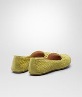 OUTDOOR SLIPPER NEW CHARTREUSE IN INTRECCIATO SUEDE