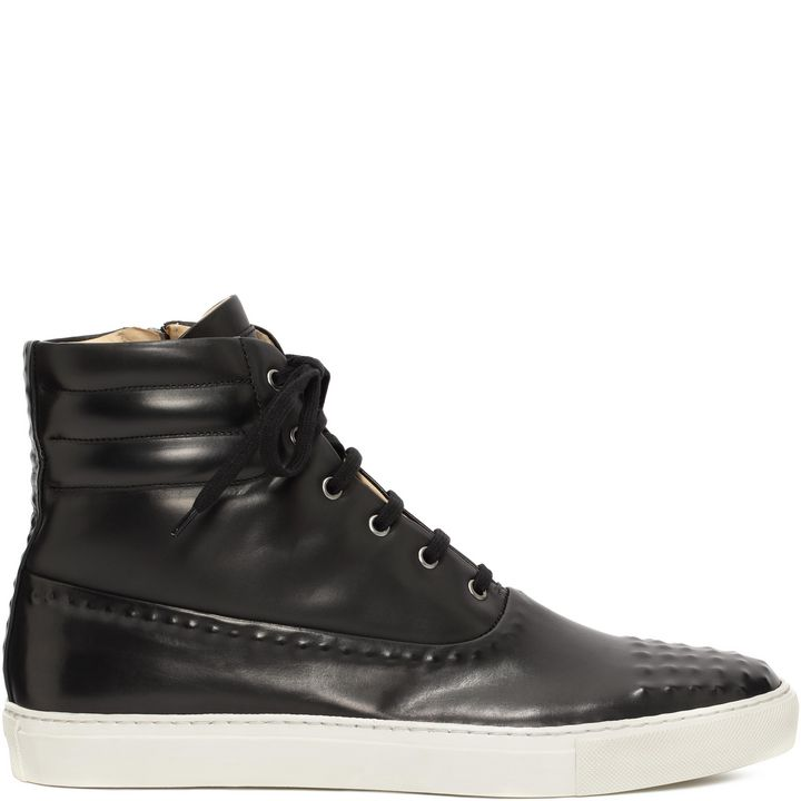 Alexander McQueen, Leather Covered Stud High-Tops